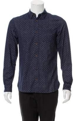 AllSaints Polka Dot Button-Up Shirt