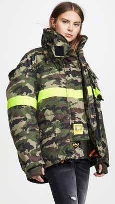 BRUMAL Fireman Down Jacket with Reflective Tape