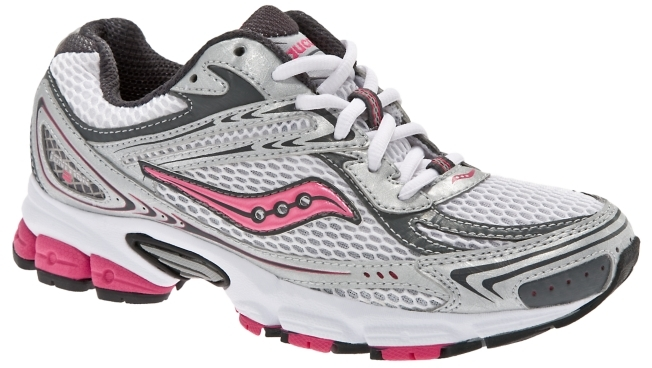 Saucony Women's Grid Ignition 2 Running Shoe - Silver/Pink