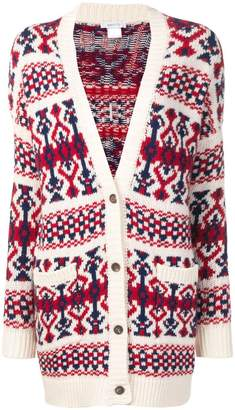 Avant Toi jacquard knitted cardigan