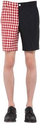 Thom Browne Bicolor Wool Blend Shorts