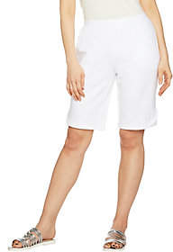 Denim & Co. Active Bermuda Shorts with StitchDetail