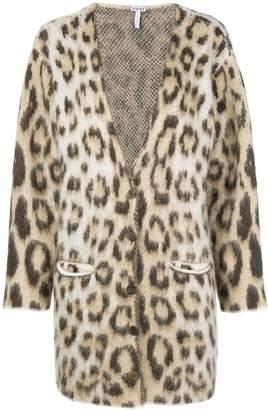 Loewe leopard print V-neck cardigan