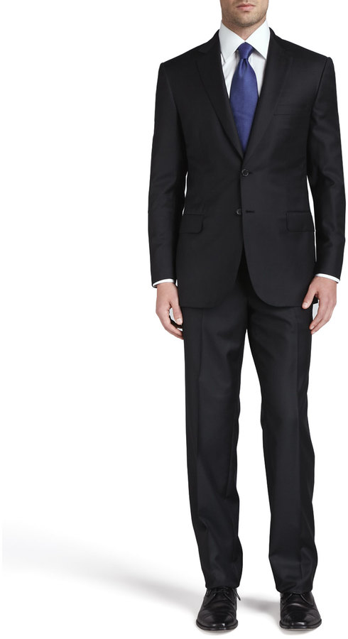 BrioniBrioni Wool Two-Piece Suit, Black