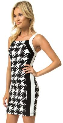 Teeze Me Juniors Sleeveless Square Neck Color Block Dress