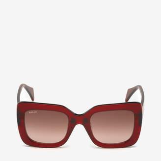 1e1309075a Bally Rodeo Square Frame Sunglasses Red