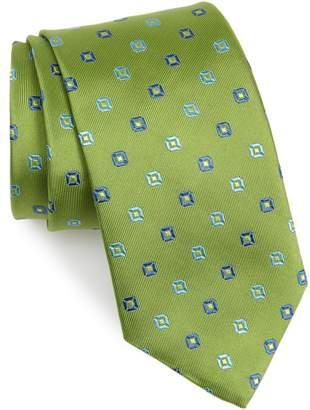David Donahue Square Medallion Silk Tie