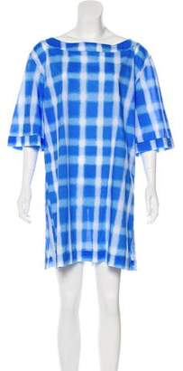 Marc by Marc Jacobs Digital Print Plaid Cover-Up w/ Tags