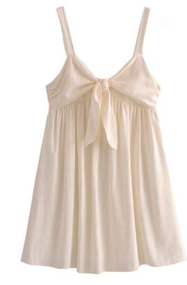 Goodnight Macaroon 'Mathilde' Front Tied Strap Baby Doll Mini Dress