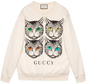 Gucci Mystic Cat print sweatshirt