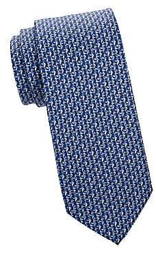 Salvatore Ferragamo Men's Marine Silk Tie