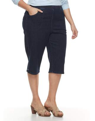 Croft & Barrow Plus Size Mini Tab Rivet Capri Jeans