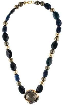 Alexis Bittar Elements Coiled Snake Beaded Pendant Necklace