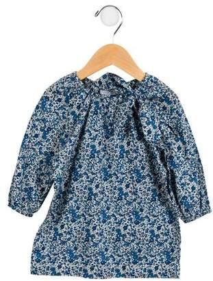 Baby CZ Girls' Floral Crew Neck Dress