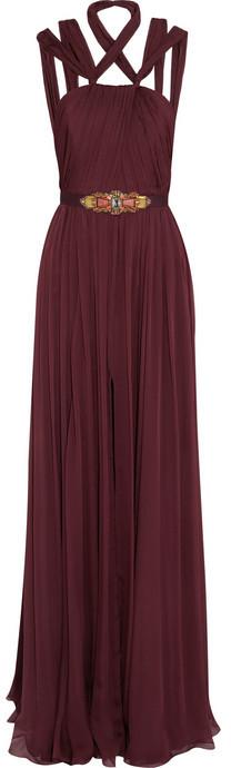 Matthew Williamson Silk-chiffon gown