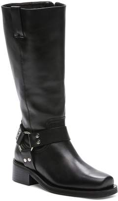 The Kooples Women's Tall Leather Moto Boots