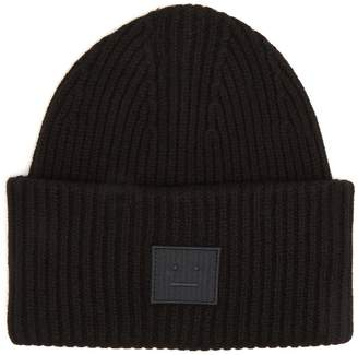 Acne Studios Pansy S Face ribbed-knit beanie