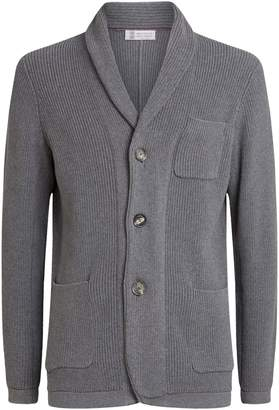Brunello Cucinelli Cotton Ribbed Cardigan