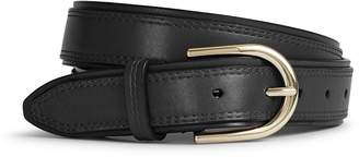Reiss VIOLA LEATHER BELT Black