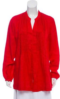 Basler Linen Embellished Tunic