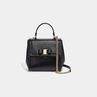 23dbde86c4 Salvatore Ferragamo Black Calfskin Leather Handbags - ShopStyle
