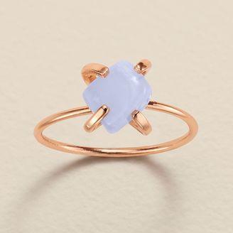 LC Lauren Conrad Runway Collection Blue Quartz Ring $14 thestylecure.com
