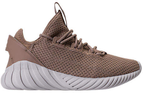 Boys' Grade School Tubular Doom Sock Primeknit Casual Shoes, Brown