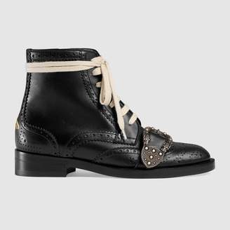 Gucci Queercore brogue boot