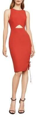 BCBGMAXAZRIA Sleeveless Lace-Up Sheath Dress