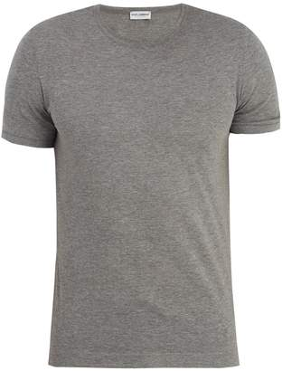 Dolce & Gabbana Crew-neck cotton-blend jersey T-shirt