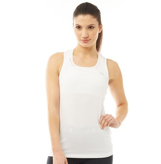 Under Armour Womens HG HeatGear Armour Racer Tank White