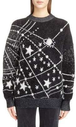 Saint Laurent Constellation Oversize Mohair Sweater
