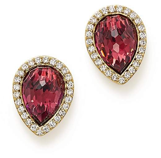 Bloomingdale's Rhodolite Garnet and Diamond Teardrop Earrings in 14K Yellow Gold - 100% Exclusive