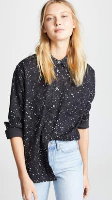 Madewell Star Print Oversized Ex Boyfriend Button Down