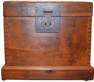 One Kings Lane Vintage Antique Square Trunk - FEA Home