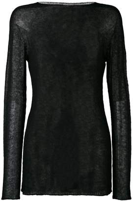 Rick Owens sheer knitted top