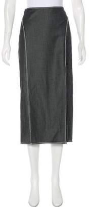 Wes Gordon Maxi Chambray Skirt w/ Tags