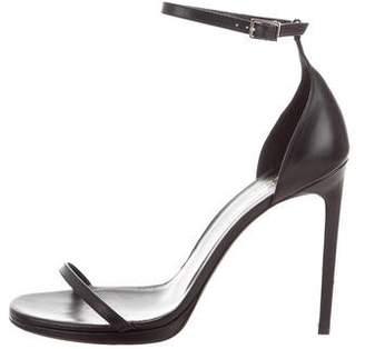 Saint Laurent Leather High-Heel Sandals
