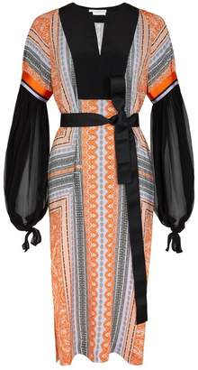 Amanda Wakeley Clementine Lilac Printed Tunic Dress