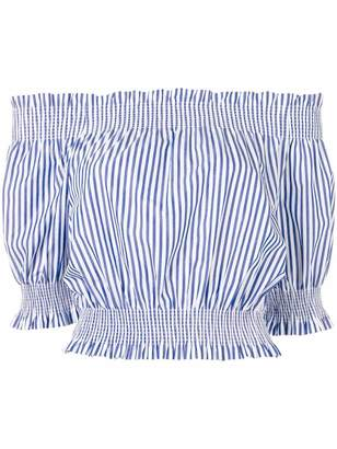P.A.R.O.S.H. striped off-the-shoulder top