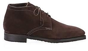 Corthay Men's Chukka Pullman Suede Boots