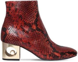 Tiffany & Co. 55mm Snake Printed Leather Boots