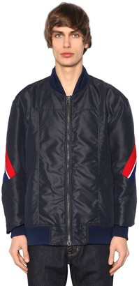 Facetasm Nylon Bomber Jacket W/ Striped Bands