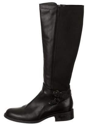 Aquatalia Leather Knee-High Boots Black Leather Knee-High Boots