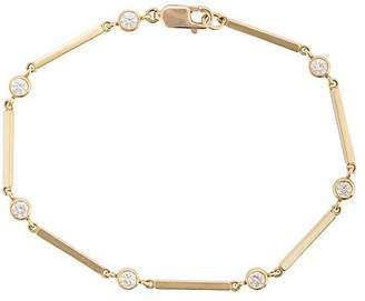 Jennifer Meyer 18kt yellow gold and diamond bezel bar link bracelet