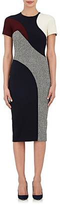 Victoria Beckham Women's Combo Sheath Midi-Dress