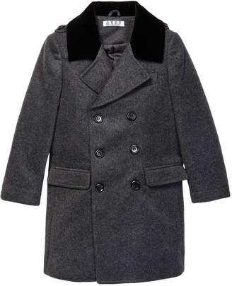 Isaac Mizrahi Wool Blend Peacoat (Toddler, Little Boys, & Big Boys)