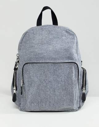 Monki felt backpack