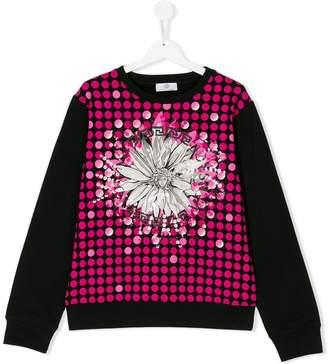 Versace Teen floral Medusa print sweatshirt
