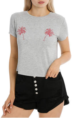 Miss Shop Graphic Tee Chopped (Palm Tree)
